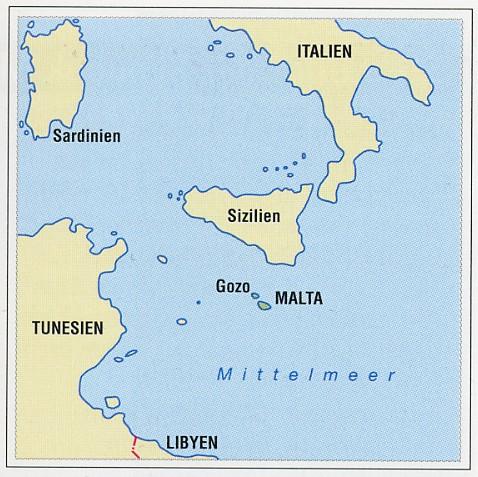 malta karte europa Malta